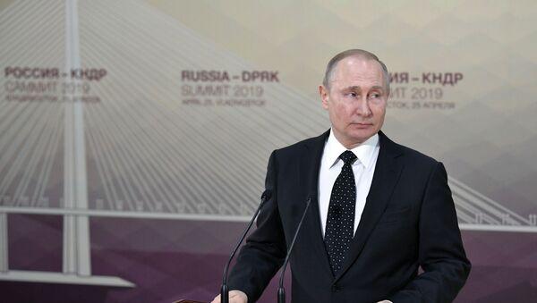 Президент РФ В. Путин встретился с лидером КНДР Ким Чен Ыном - Sputnik Беларусь
