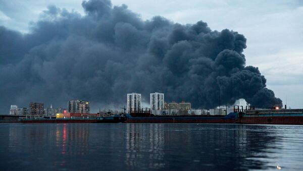 Пожар на заводе Красмаш в Красноярске - Sputnik Беларусь