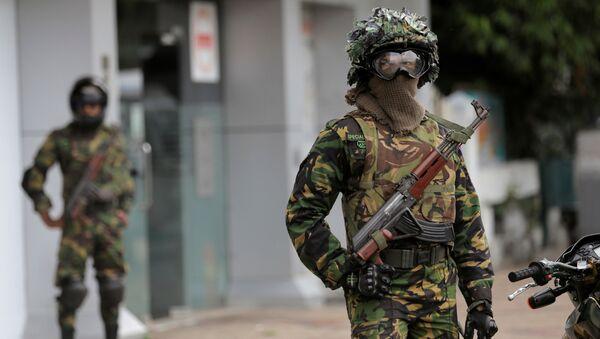Солдаты на Шри-Ланке после серии взрывов - Sputnik Беларусь
