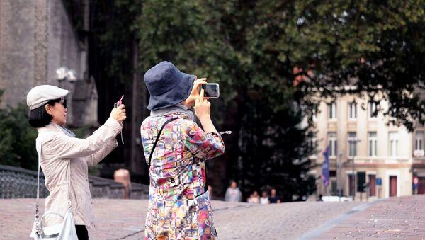 Туристы, архивное фото - Sputnik Беларусь