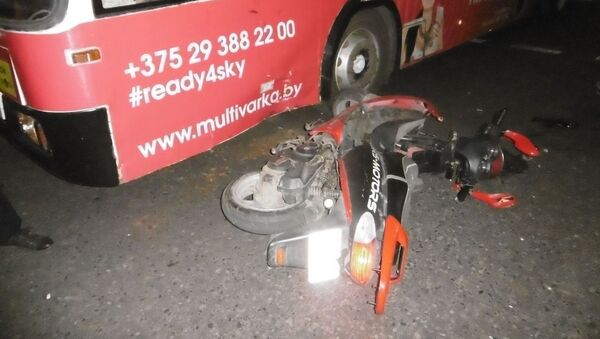 Авария со скутером и троллейбусом в Витебске - Sputnik Беларусь