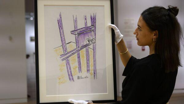 Картина Нельсона Манделы  Дверь камеры, остров Роббен на торгах в Нью-Йорке - Sputnik Беларусь