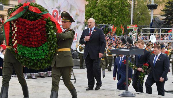 Аляксандр Лукашэнка на мерапрыемствах, прысвечаных Дню Перамогі - Sputnik Беларусь