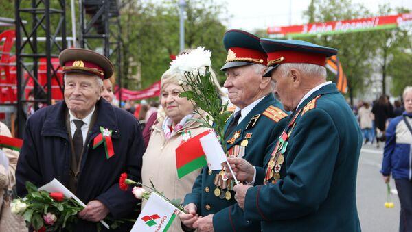 Ветэраны на Плошчы Перамогі - Sputnik Беларусь
