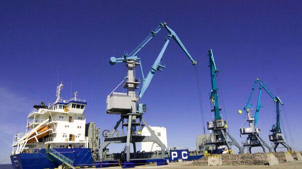 На территории универсального перегрузочного комплекса в морском торговом порту Усть-Луга - Sputnik Беларусь
