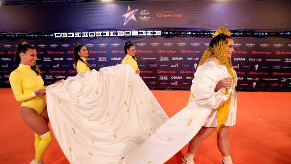 Победительница прошлогоднего Евровидения Нетта на церемонии открытия в Израиле - Sputnik Беларусь