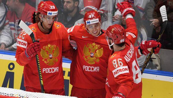 Россияне радуются победе над чехами на ЧМ - Sputnik Беларусь