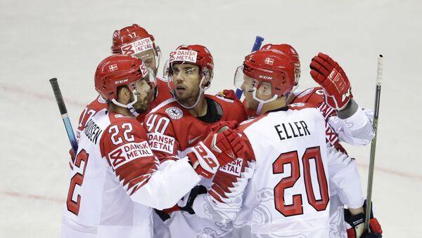 Хоккеисты сборной Дании на чемпионате мира в Словакии - Sputnik Беларусь