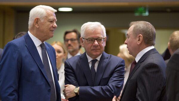 Глава МИД Беларуси Владимир Макей на полях юбилейного саммита  Восточное партнерство - Sputnik Беларусь