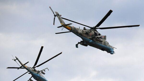 Верталёты Мі-24, архіўнае фота - Sputnik Беларусь