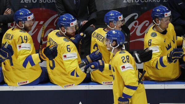 Хоккеисты сборной Швеции на чемпионате мира-2019 - Sputnik Беларусь
