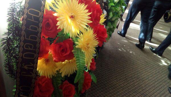 Церемония прощания с погибшим сотрудником ГАИ Евгением Потаповичем длилась до полудня - Sputnik Беларусь