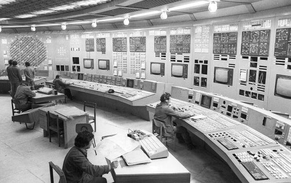 Пульт управления Игналинской атомной электростанции, архивное фото - Sputnik Беларусь