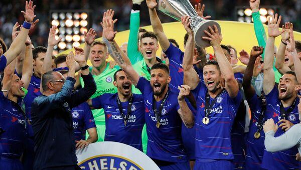 Челси празднует победу в Лиге чемпионов - Sputnik Беларусь