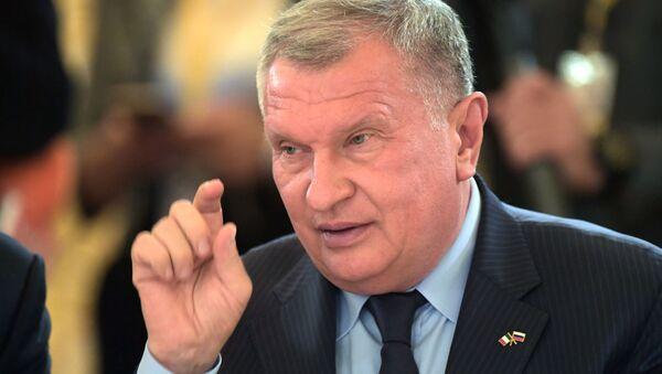 Главный исполнительный директор нефтегазовой компании ПАО НК Роснефть Игорь Сечин - Sputnik Беларусь