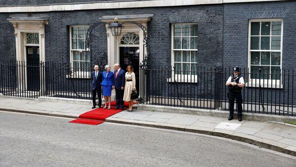Встреча президента США Дональда Трампа с премьер-министром Великобритании Терезой Мэй  - Sputnik Беларусь
