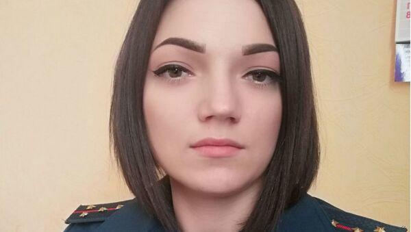 Пресс-секретарь Витебского областного управления МЧС Софья Глинская - Sputnik Беларусь