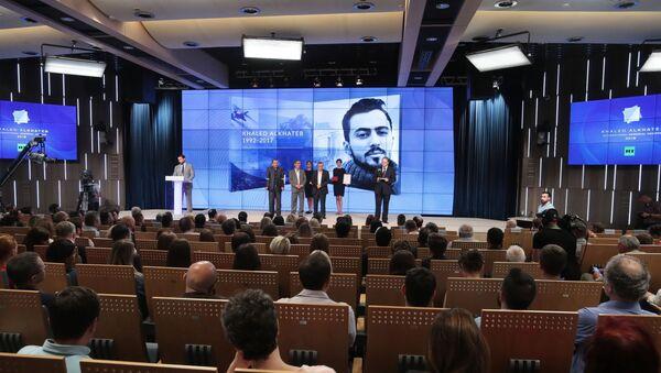 Вручение Международной премии в память о журналисте Халеде аль-Хатыбе - Sputnik Беларусь