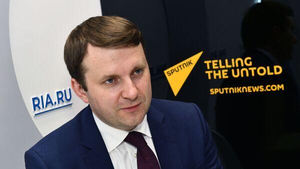 Міністр эканамічнага развіцця РФ Максім Арэшкін - Sputnik Беларусь