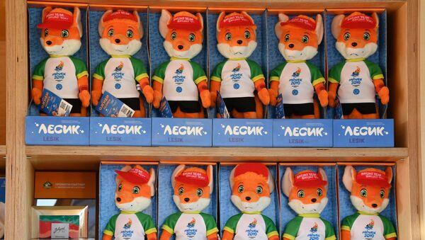 Сувенірныя фігуркі Лесіка ля Палаца спорту - Sputnik Беларусь