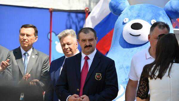 Віктар Лукашэнка на цырымоніі адкрыцця Дома балельшчыка каманды Расіі - Sputnik Беларусь