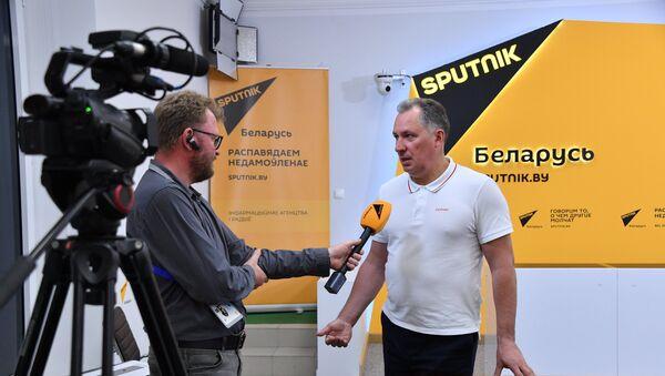 Глава Олимпийского комитета России (ОКР) Станислав Поздняков в пресс-центре Sputnik Беларусь - Sputnik Беларусь