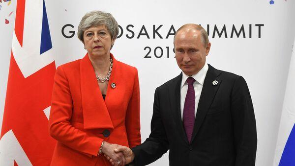 Встреча Владимира Путина и Терезы Мэй - Sputnik Беларусь