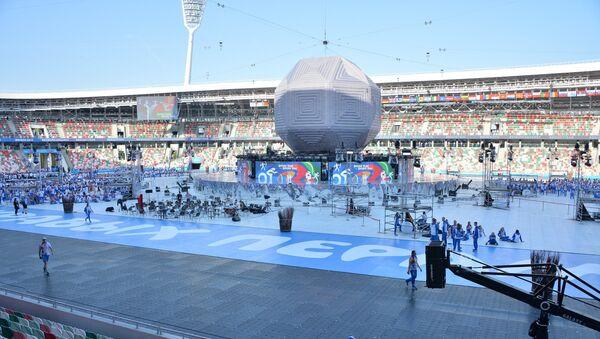 Минский стадион Динамо перед церемонией закрытия Европейских игр - Sputnik Беларусь