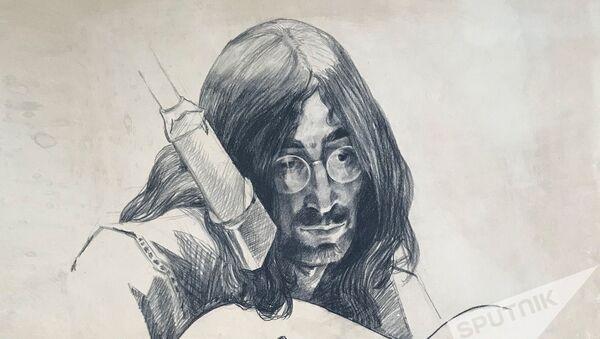 Портрет Джона Леннона, нарисованный Михаилом Савицким - Sputnik Беларусь