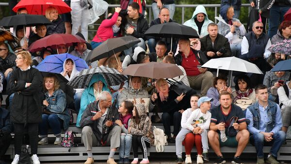 Дождь начался буквально за час до парада - Sputnik Беларусь