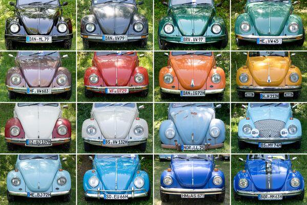 По большому счету менялись только цвета машин – Жук стал самым массовым автомобилем в истории, производившимся десятилетиями без серьезных изменений в конструкции. - Sputnik Беларусь