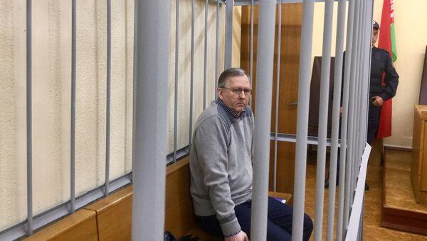 Бывший главный инженер Минского завода колесных тягочей (МЗКТ) Андрей Головач в зале суда - Sputnik Беларусь