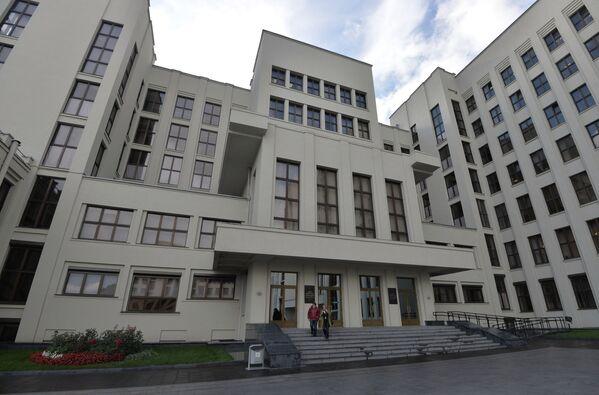 Дом правительства в центре Минска строили по проекту легендарного Иосифа Лангбарда.  - Sputnik Беларусь