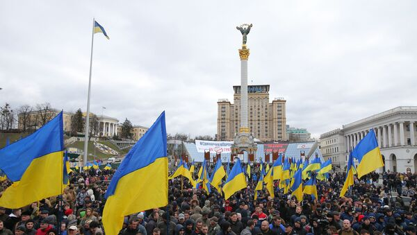 Акция националистов на площади Независимости в Киеве - Sputnik Беларусь