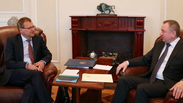 Владимир Макей встретился с новым послом Германии Манфредом Хутерером - Sputnik Беларусь