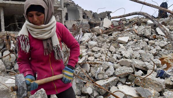 Жизнь в разрушенных районах сирийского Алеппо - Sputnik Беларусь