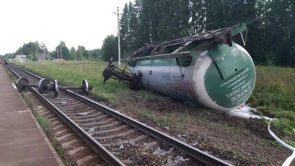 Утечка газа из грузовой цистерны на железной дороге под Витебском ликвидирована - Sputnik Беларусь