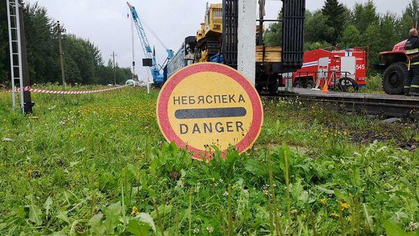 Ремонтные работы на участке железной дороги - Sputnik Беларусь