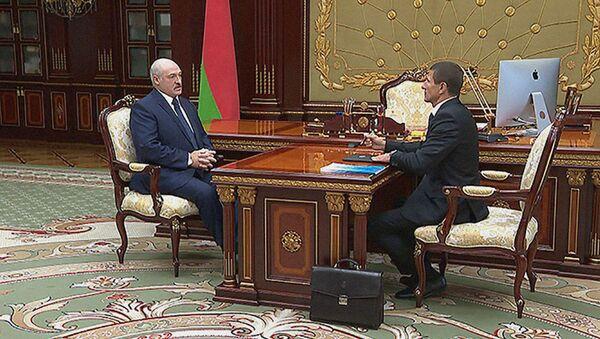 Президент Беларуси Александр Лукашенко провел встречу с начальником Оперативно-аналитического центра Андреем Павлюченко - Sputnik Беларусь