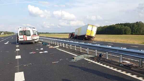 Место аварии в Лидском районе - Sputnik Беларусь