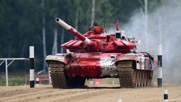 Танк Т-72Б3 команды армии Беларуси на V Армейских международных игр-2019 в парке Патриот - Sputnik Беларусь