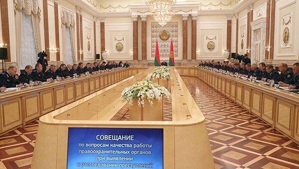 Лукашэнка нагадаў праваахоўнікам аб іх першараднай задачы - Sputnik Беларусь