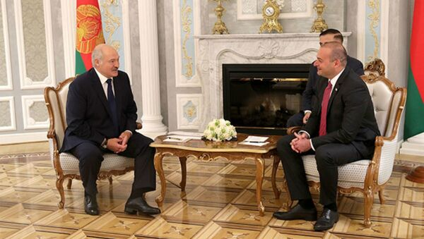 Сустрэча прэзідэнта Аляксандра Лукашэнкі з прэм'ер-міністрам Грузіі Мамука Бахтадзе - Sputnik Беларусь