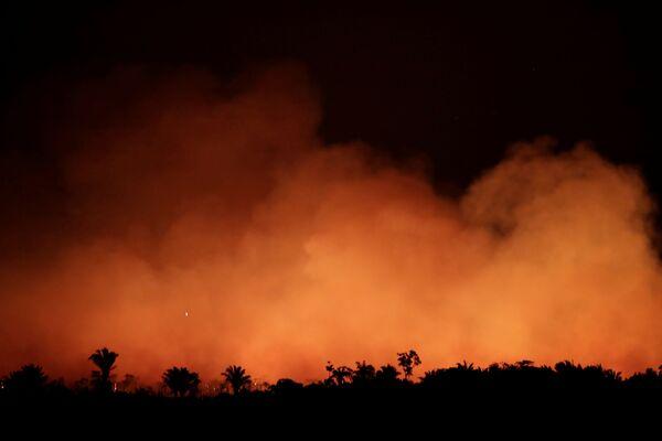Дым от пожаров в лесах Амазонии  - Sputnik Беларусь