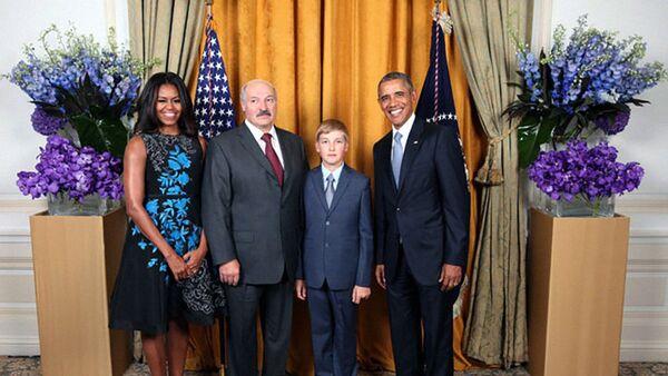 Прэзідэнт Беларусі Аляксандр Лукашэнка прыняў удзел у прыёме ад імя прэзідэнта ЗША Барака Абамы на 70-й сесіі Генасамблеі ААН - Sputnik Беларусь