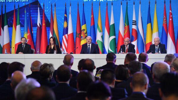 Аляксандр Лукашэнка выступае на канферэнцыі па барацьбе з тэрарызмам - Sputnik Беларусь