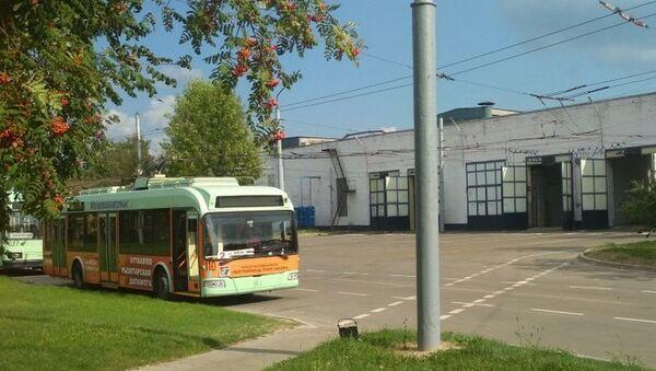 Троллейбус в троллейбусном парке, архивное фото - Sputnik Беларусь