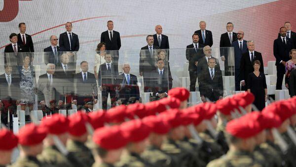 На ўрачыстай цырымоніі, прысвечанай 80-й гадавіне пачатку Другой сусветнай вайны ў Варшаве - Sputnik Беларусь