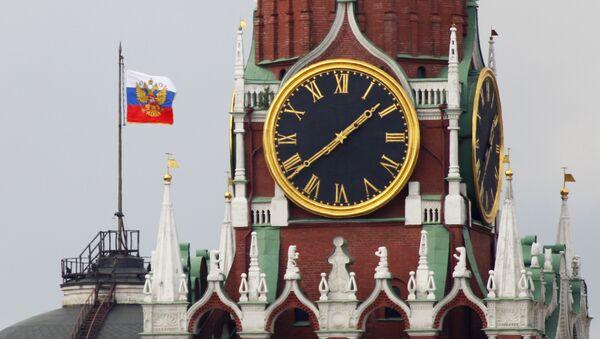 Штандар прэзідэнта РФ на купале будынка Сената Маскоўскага Крамля - Sputnik Беларусь