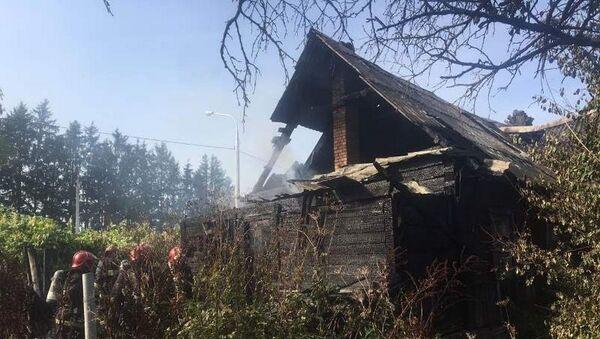 В Витебске горел жилой дом: хозяева уцелели - Sputnik Беларусь
